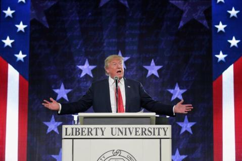 Donald Trump Delivers Convocation At Liberty University